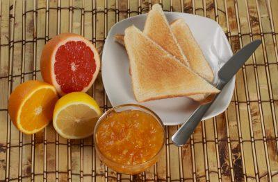 top view of breakfast